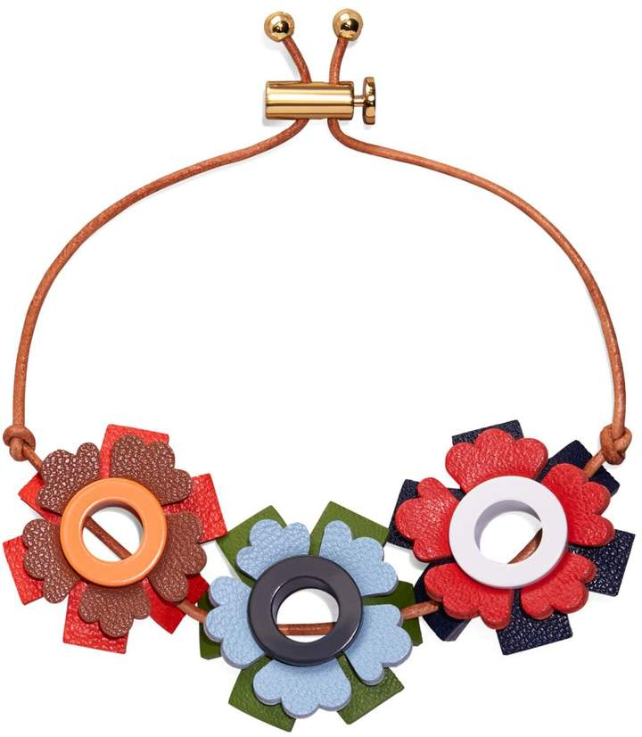 Tory BurchTory Burch GEO FLORAL LEATHER BRACELET